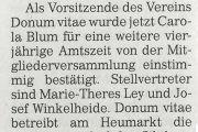 Kölner Rundschau: Donum vitae - 2016 mehr Beratungen