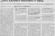 """Kölische Rundschau: """"Im Leben keinen Platz"""""""